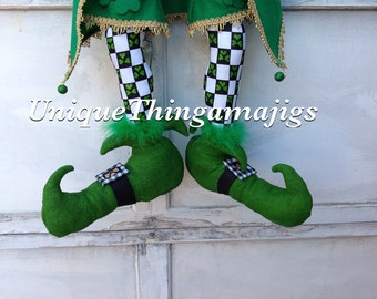 Leprechaun legs, St. Patrick's day Decor