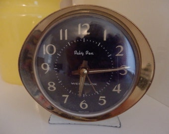 Vintage Retro 1960's Westclox Baby Ben Alarm Clock Wind Up