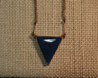 Handmade Reversible Inverted Triangle Necklace
