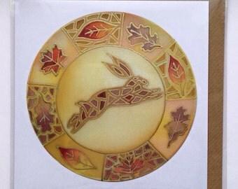 Mosaic Hare Greeting Card