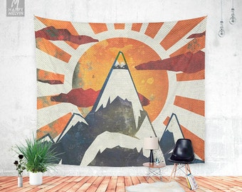 Mount spitfire - Wall tapestry - Tapestry - Mountain - Boho - Wall Hangings - Wanderlust - Nature - Boho decor - Home decor - Dorm decor.
