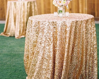 Gold Sequin Tablecloths & Runners