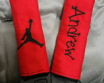 SALE JORDAN personalized infant car seat strap covers (any color) girl or boy