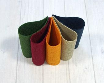 Felt Bundle - School Days Collection - Wool Blend Felt Sheets, 9 x 12 inches