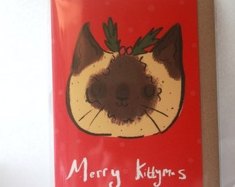 Merry Kittymas- Christmas card- cat card