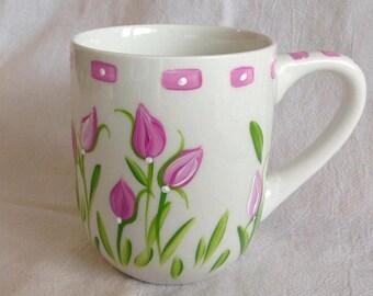 Pink White Mug