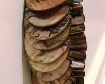 Shell cuff bracelet