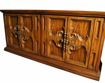 Hollywood Regency Ornate Server/ Credenza Available Custom Painted in High Gloss, chalk paint, etc.