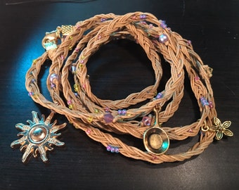 Disney's Tangled Inspired Rapunzel's Flower Braid Long Wrap Bracelet