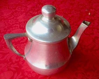 Old teapot or coffee pot aluminium