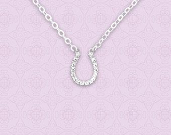 Silver Horseshoe Necklace - 53266