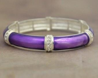 Purple Jillian Stretch Bangle Bracelet - 57708