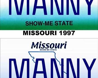 Personalized Missouri Refrigerator Magnet State License Plate Replica