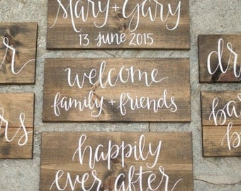 Set of 7 wedding signs for your ceremony and reception!