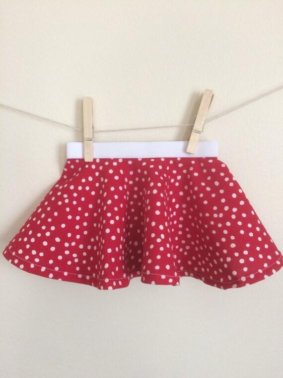 Red & White Circle Skirt Red Skirt Polka Dot Skirt OSU