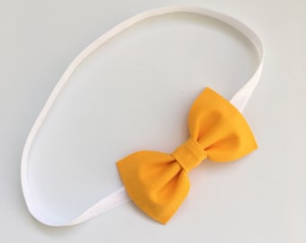 Mustard Yellow Bow Headband
