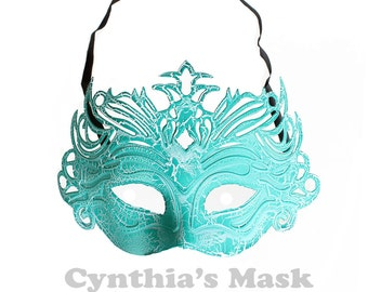 Green PVC Venetian Mask Masquerade Halloween Costume Party Cosplay Dancing SKU: BZ304B (7N42)