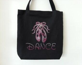 Rhinestone Dance tutubag, Tote Bag, Gift giving idea!