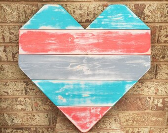 Rustic Pallet Wood Heart - Valentine's Day Decor - Rustic Home Decor - Rustic Wedding - Wedding Decorations Rustic