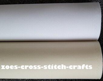 Aida Fabric 25cm x 25cm Pieces - 14 Count White / Cream Aida *Choose Qunatity* *FREE UK SHIPPING*