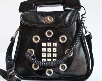 Telephone Purse / Vintage Collector Phone / Very Good Condition /  Works well....I will call you from it!
