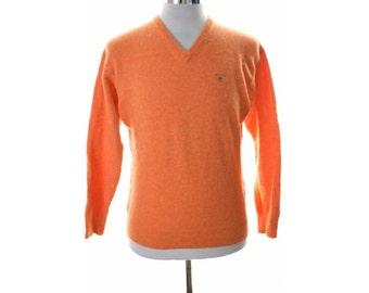 Gant Womens Jumper Sweater XL Orange Lambswool
