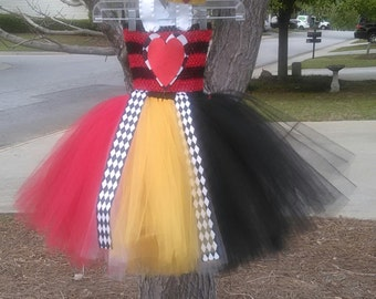 Heart Queen/Queen of Hearts Tutu Dress (Crown and Scepter Included) MADE TO ORDER