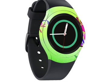 Skin Decal Wrap for Samsung Gear S2, S2 3G, Live, Neo S Smart Watch, Galaxy Gear Fit cover sticker Pastel Flourishes