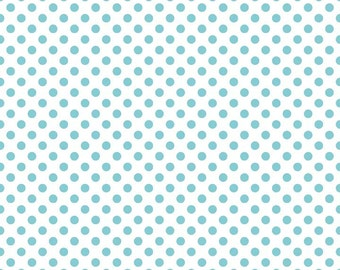 Riley Blake Fabric - Fabric by the Yard - Modern Fabric - Quilt Fabric - Fat Quarter - Yardage - Aqua Dot Fabric - Polka Dot Fabric