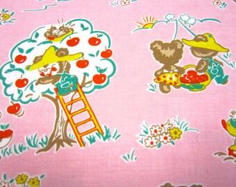 Pink Apple Farm Cotton Penny Rose Fabric Designed by Elea Lutz