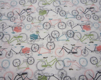 Bicycle Cotton Fabric Designed by Rae Ritchie for Dear Stella Designs