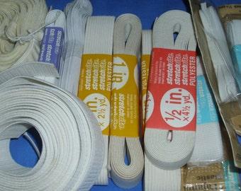 Elastic, Elastic, Elastic and More Elastic!  Stretch, Underwear, Thin, Wide Elastic.  Thirteen Different Packages