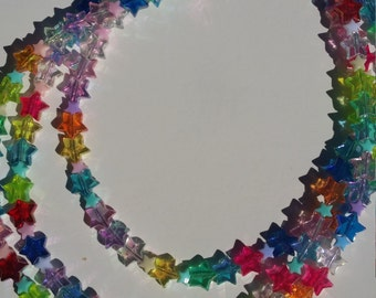 Rave star multicoloured neon necklace