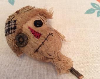Handmade scarecrow pin