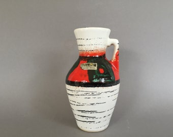 Scheurich  405  / 13.5 Mid Century Modern  vase  made in the 1960s . West Germany Pottery. WGP.