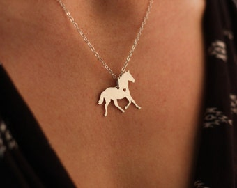SALE - Personalized Horse Necklace - Horse Lover - Stallion - Mare - Horseback Riding - 4-H - Valentines Day Gift - Mothers Day Gift