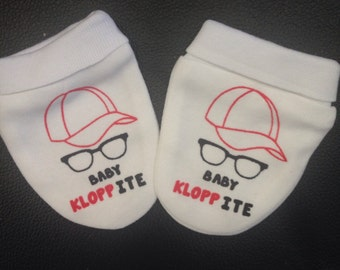 Baby Liverpool scratch mitts . Klopp.
