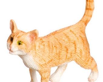 DOLLHOUSE MINIATURE Orange Cat Walking #A3097OR