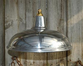 Stylish Modernist styled polished metal ceiling light NAG3