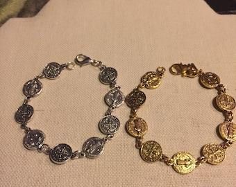 St Benedict Medal Bracelet