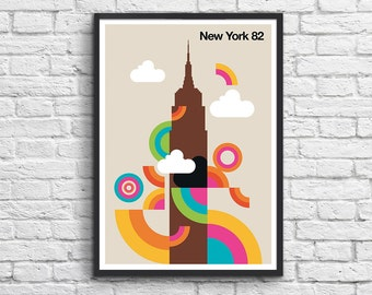 """Art-Poster 50 x 70 cm - """"New-York 82"""""""
