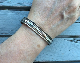 Hand Wrought Sterling Cuff -- 89