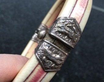 Henna Bone Bracelet with Rabbits -- 515