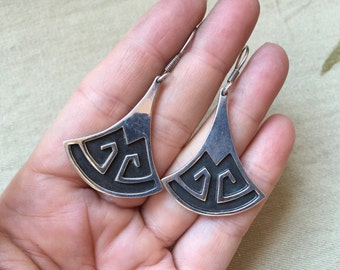 Mexican Overlay Earrings -- 738