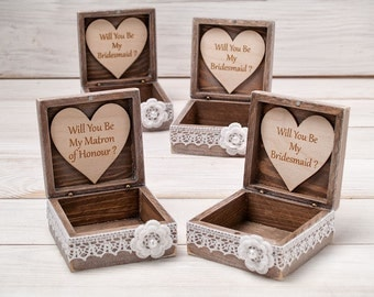 Wedding Gift Ideas For Sister Uk : ... box maid of honor gift box sister of the bride gift bridesmaids