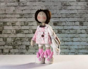 Doll tilda. Doll Margaret. Сollection Winter doll. Cute doll. Textile doll. Cloth doll.