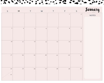 Dotted 15 Month Calendar
