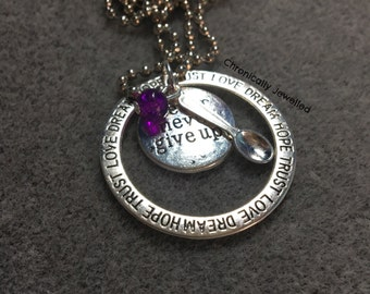 Never Give Up Spoonie Hope Pendant