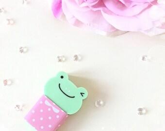 Green Frog Eraser...