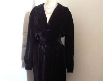 A French vintage Thierry Mugler velvet dress